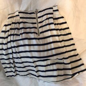 H&M Skirts - Cotton navy striped skirt